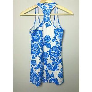 Lululemon 🍋 Blue Floral Lace Tank